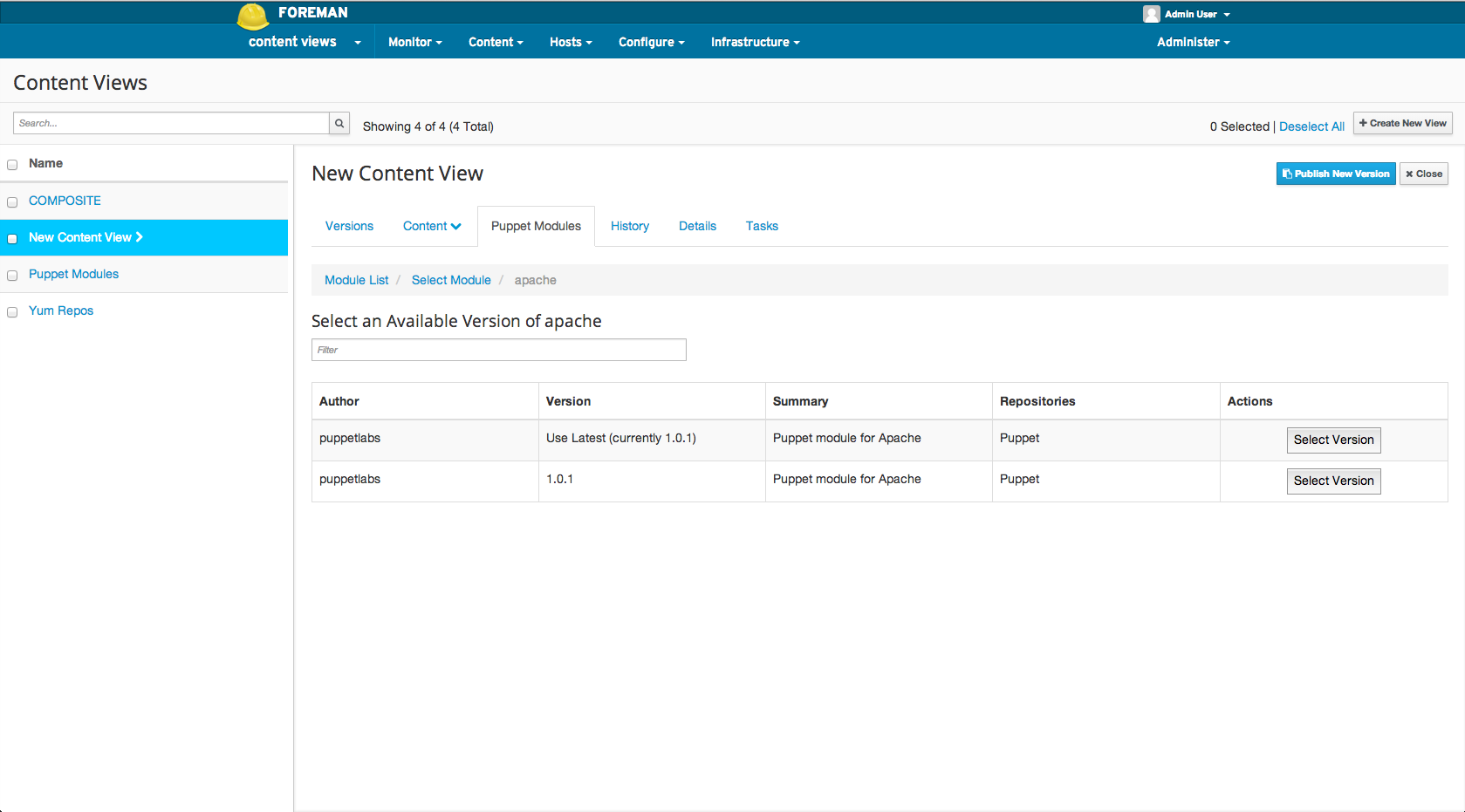 Adding a puppet module to a Content View 3