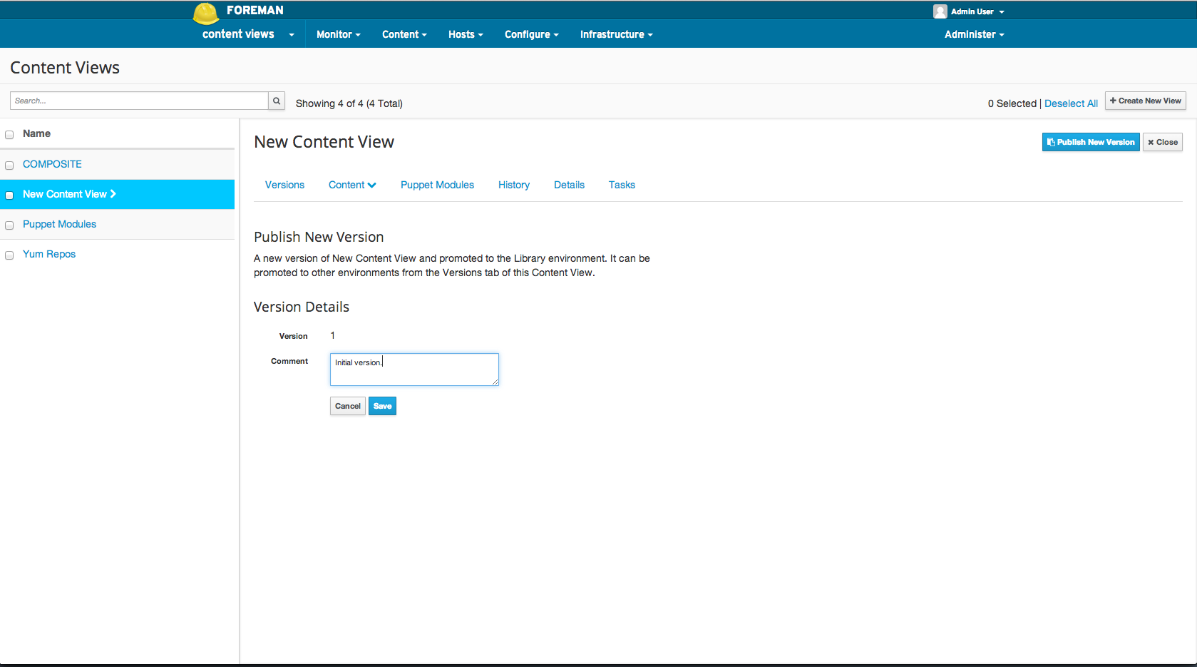 Publish Content View1