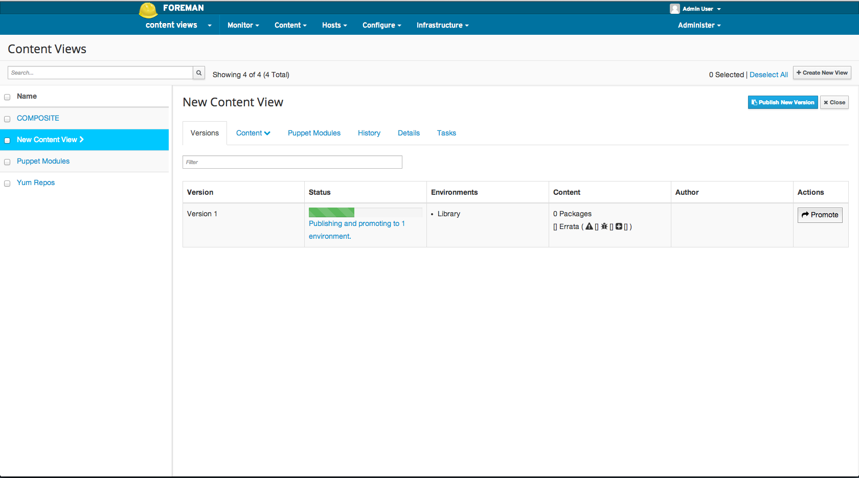 Publish Content View2