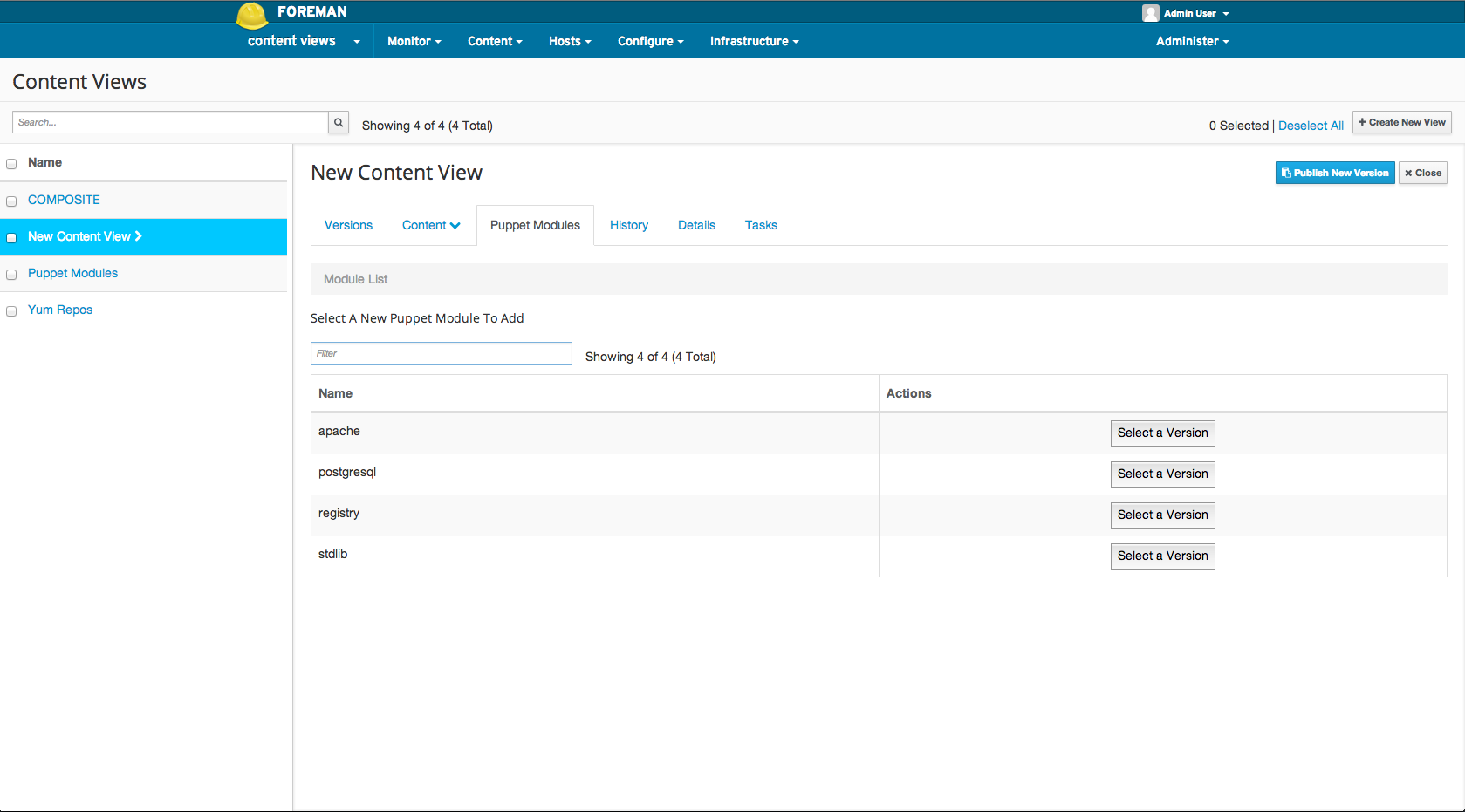 Adding a puppet module to a Content View 2